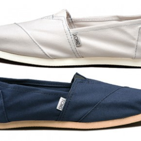 TOMS shoes, kinda like a buy one get one free.